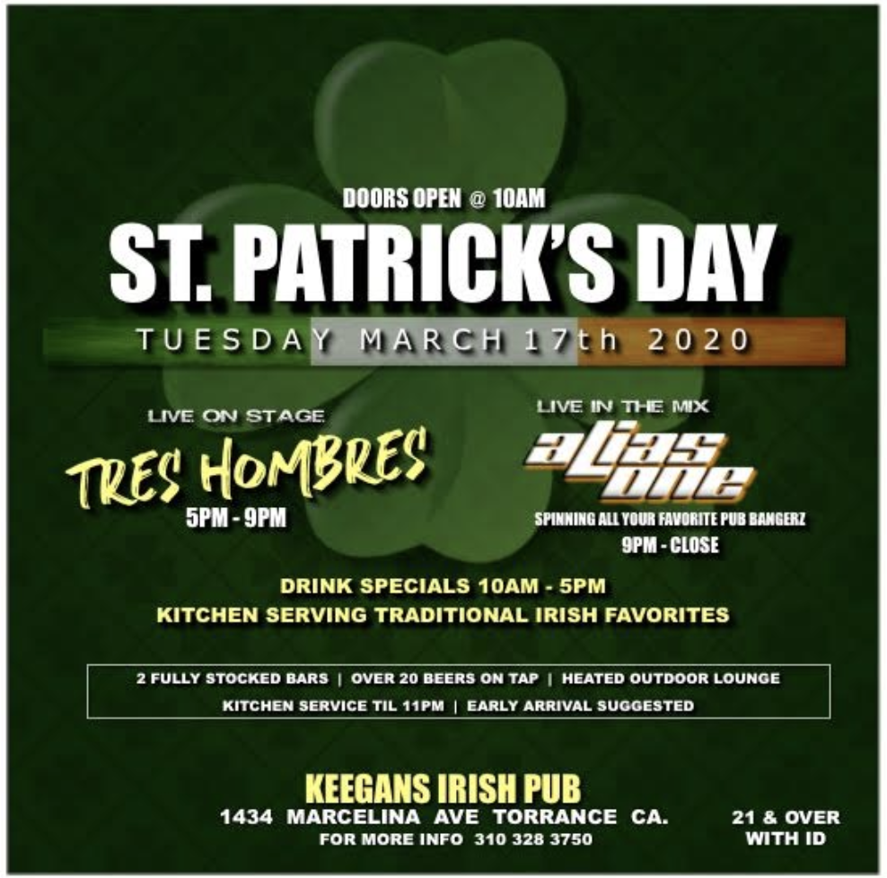 st. patricks day event 2020